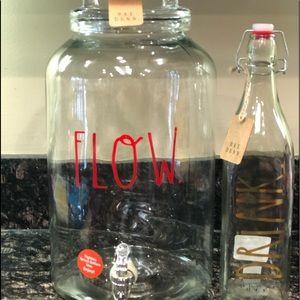 NEW Rae Dunn Christmas Glass FLOW & DRINk